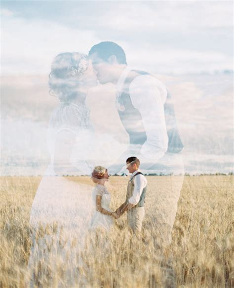 wedding photography trend dreamy double exposures