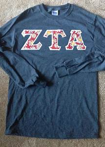 25 unique sorority letter shirts ideas on pinterest With zta stitched letter shirts