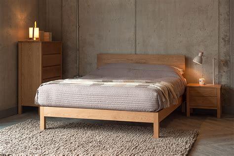 malabar contemporary wooden bed natural bed company