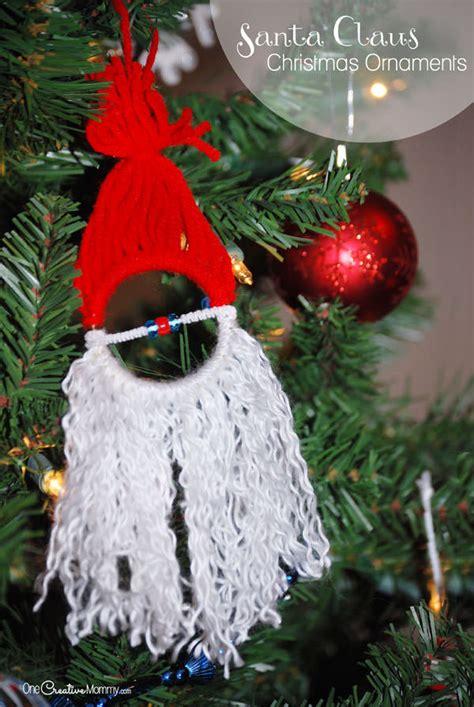 homemade christmas ornaments for kids santa onecreativemommy com