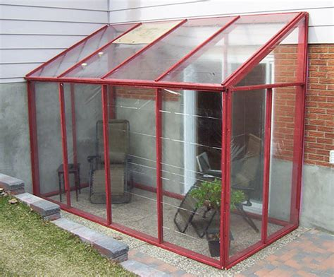 diy temporary sun room with plastic shower curtain