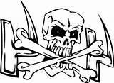 Skull Coloring Bones Cross Crossbones Pages Drawing Dry Skeleton Sheet Getdrawings sketch template