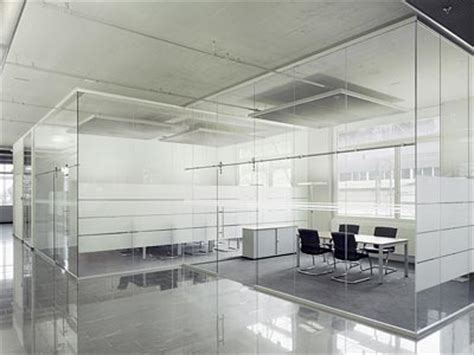 separation de bureau en verre cloison de séparation en verre sans montants verticaux
