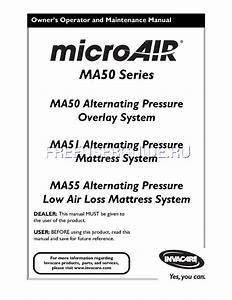 User U0026 39 S Manual For Camping Equipment Invacare Microair Ma50