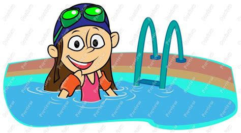 Swimming Clip Clipart Swimming Pool Pencil And In Color
