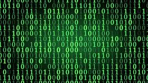Green Binary Digital Code. Computer Generated Seamless ...