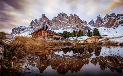 Val Di Funes Dolomites Italy Desktop Wallpaper Download ...