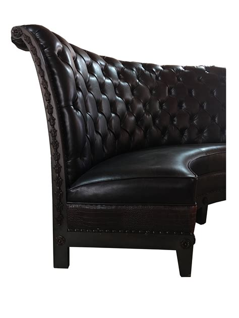 tufted  banquette french solid wood