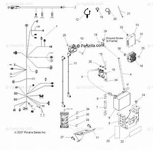Polaris Side By Side 2008 Oem Parts Diagram For Electrical