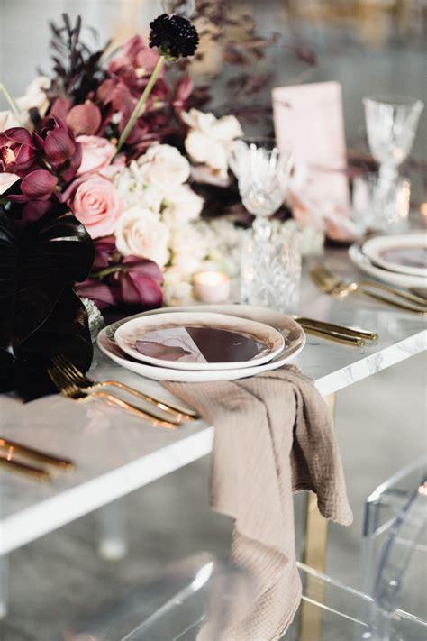 blush and burgundy bridal bouquet wedding flowers