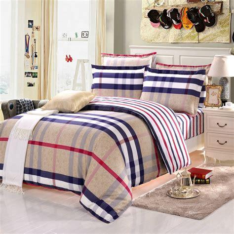 size comforter set 2016 newest 4pcs 100 cotton bedding sets striped bedding