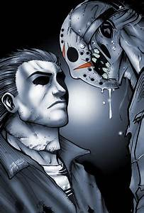 Myers vs. Jason - my first attempt drawing these two ...