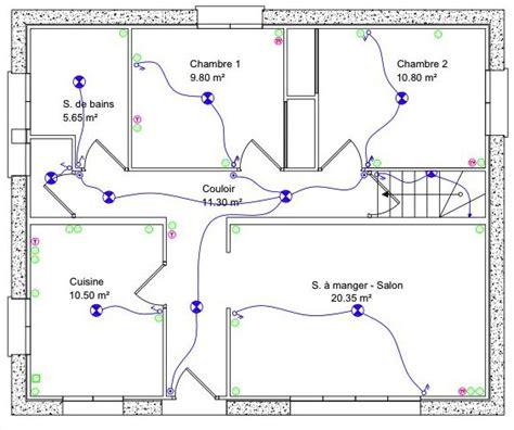 exemple couleur chambre comprendre le plan électrique d 39 une maison