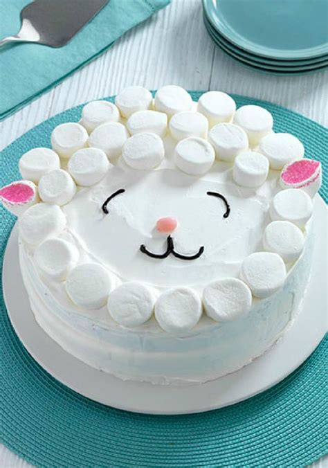 easy cake easy lamb cake there s no need for a special cake pan to prepare this easy lamb cake covered
