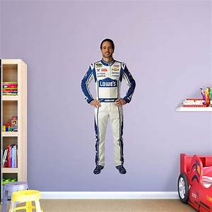 Life size jimmie johnson lowe39s driver wall decal shop for Kitchen cabinets lowes with life size wall stickers