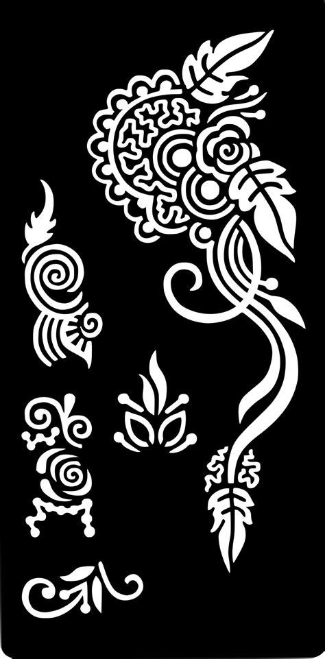 Henna Temporary Tattoo Body Art Sticker Stencil   Body art, Tattoo stencils, Stencils