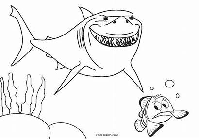 Coloring Nemo Pages Cool2bkids
