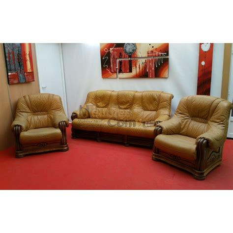 canape cuire salon en bois massif cuire gascity for