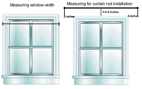 how to measure for curtains hanging curtain rods the o