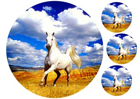 horse edible cake topper toppers animals