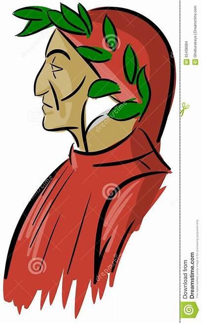Dante Alighieri Ritratto Portret Artistiek Portrait Isolato
