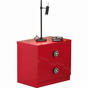 Table De Chevet Rouge : table de chevet enfant voiture monza rouge ~ Preciouscoupons.com Idées de Décoration