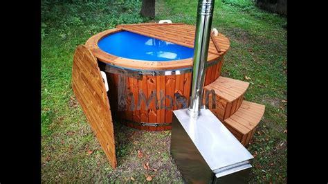 tub wood burner outdoor spa tub with external wood burner fiberglass