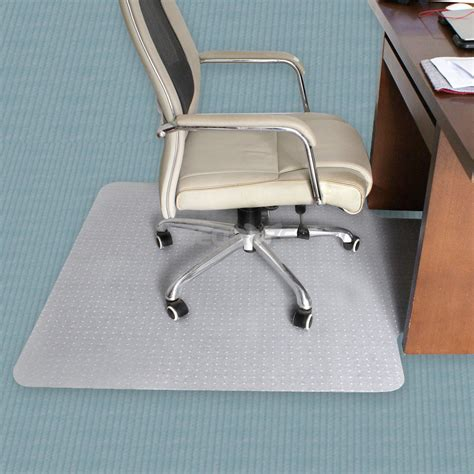 floor mats for office chairs 36 quot x 48 quot pvc home office chair floor mat with lip 3mm thickness for pile carpet ebay