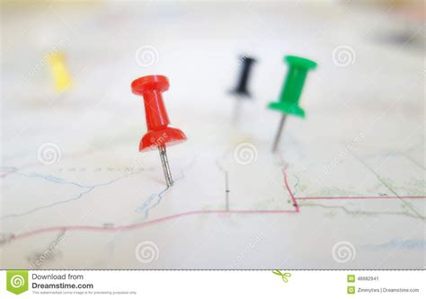 Map Tacks Stock Image. Image Of Locate, Location, Position