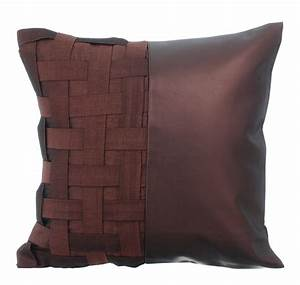 Decorative throw pillow cover accent pillow couch sofa leather for Sectional sofa with throw pillows