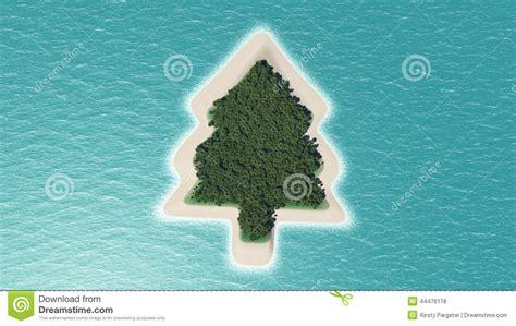 christmas tree island stock illustration image 44476178