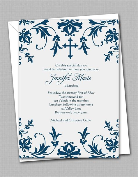 Inviation Templates by Free Printable Confirmation Invitation Templates