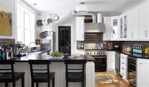 Kitchen. Astounding Black And White Kitchen: Mid Sized