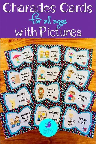 Charades Classroom Printable Cards Phrases Action Playing