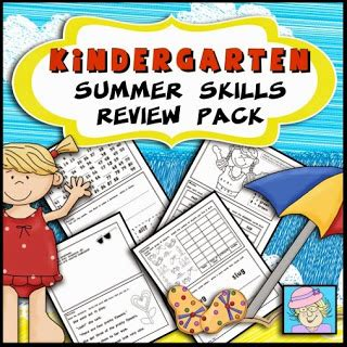 Teacher Tam's Educational Adventures Summer Review Packs For Kindergarten And First Grade