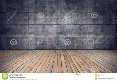 Un Pavimento Di Cemento O Legno by Stanza Vuota Con Il Pavimento E La Parete Di Legno Delle