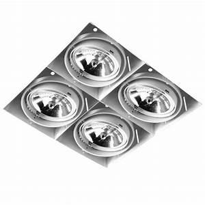 Grid Trimless Quadruple Ar111 12v 4 X 75w White