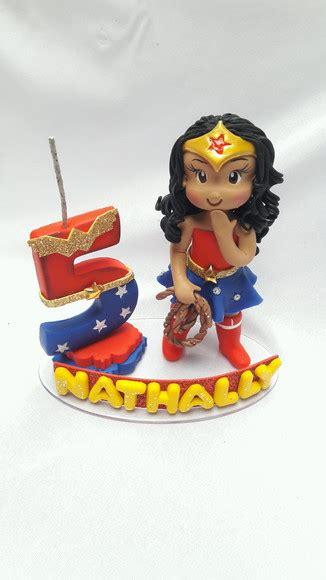 topo de bolo mulher maravilha no elo7 faby arte em biscuit d969b1
