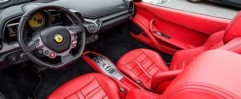 Ferrari 458 White Red Interior