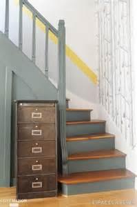 Escalier Bois Peint En Taupe by Les 25 Meilleures Id 233 Es Concernant Escaliers Peints Sur
