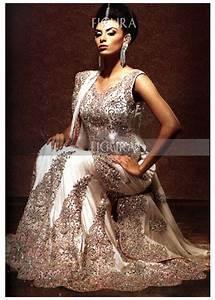 Designer Indian White Lengha Bridal White Silk Lengha