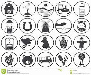 Farming Icons Vector Collection Stock Vector - Image: 35910619