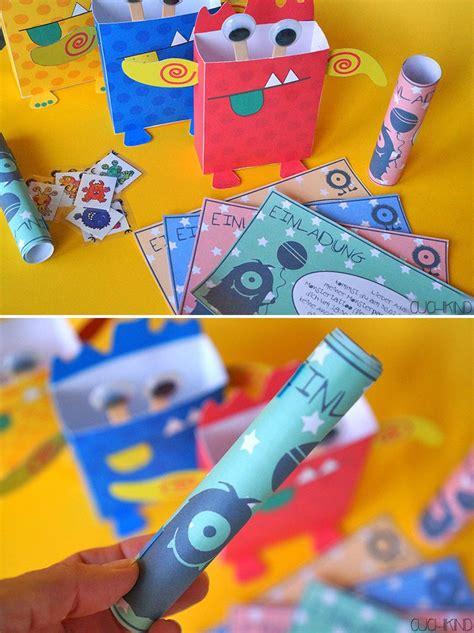 kindergeburtstag spiele für 4 jährige einladungen zur monsterparty printables diy einladungen kindergeburtstag