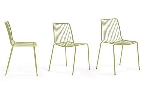 chaises métal nolita chaise pedrali en métal empilable pour l