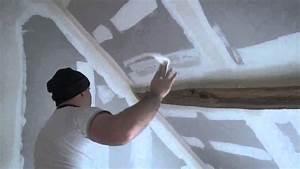 Comment Enduire Un Plafond : boucher et jointoyer le long d 39 une poutre toutes les ~ Mglfilm.com Idées de Décoration