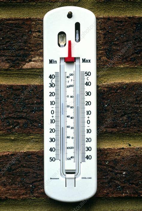 maximum  minimum thermometer stock image