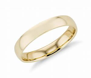 mid weight comfort fit wedding band in 14k yellow gold With comfort band wedding ring