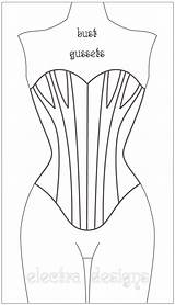 Corset Coloring Template Pages Adults sketch template