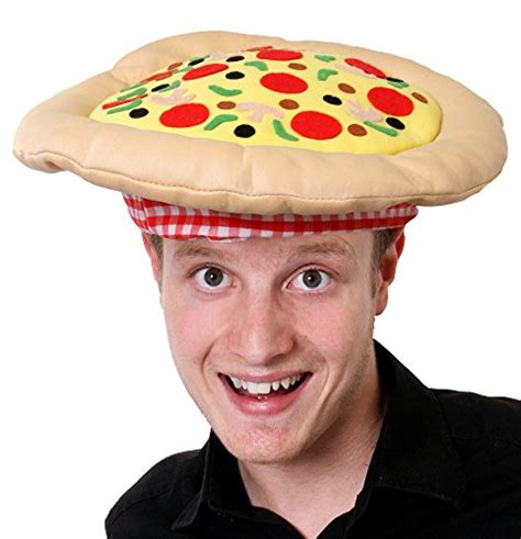pizza hat fancy dress accessory hat novelty headwear