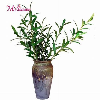 Olive Branches Tree Artificial Decor Leaves Fake